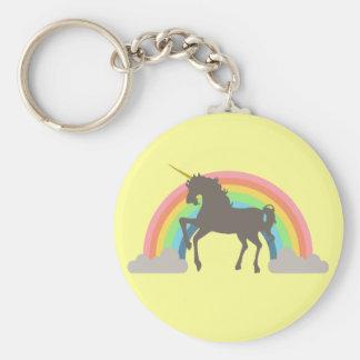 Unicorn Power Basic Round Button Keychain