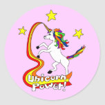 Unicorn Power! Round Sticker