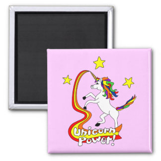 Unicorn Power! Square Magnet