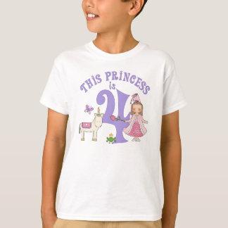 Unicorn Princess  4th Birthday T-Shirt