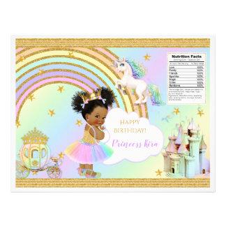 Unicorn Princess Castle Rainbow Baby Girl Chip Bag Flyer