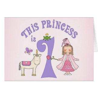 Unicorn Princess First Birthday Invitation Note Card