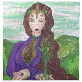 Unicorn Princess Healing Earth Plant Growing Napkin