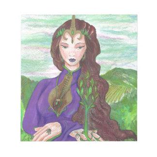 Unicorn Princess Healing Earth Plant Growing Notepad