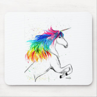 Unicorn print Unicorn design rainbow Mouse Pad