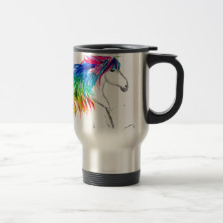 Unicorn print Unicorn design rainbow Travel Mug