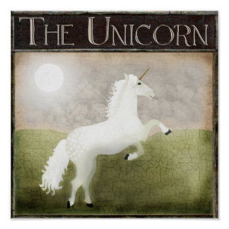 Unicorn pub sign Unicorn painting  unicorn art