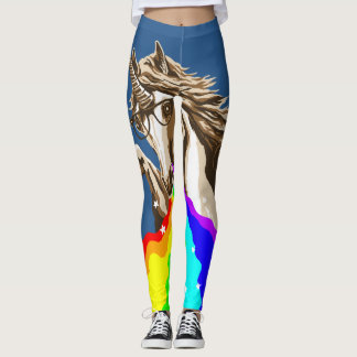 Unicorn pukes rainbow leggings