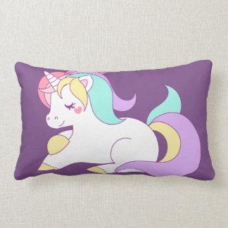 Unicorn purple Pillow