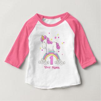 Unicorn Rainbow 1st Birthday Party Baby T-Shirt
