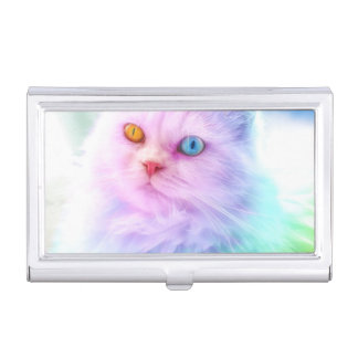 Unicorn Rainbow Cat Business Card Holder