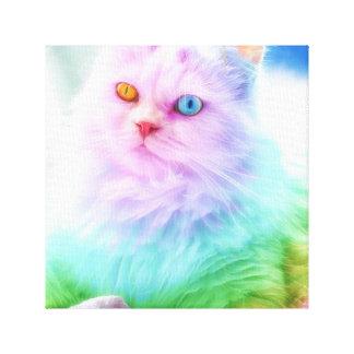 Unicorn Rainbow Cat Canvas Print