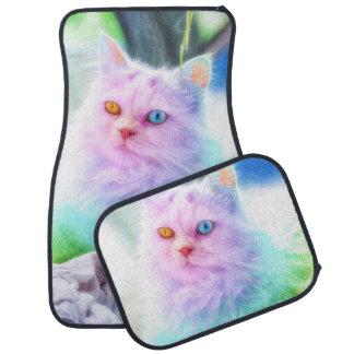 Unicorn Rainbow Cat Car Mat