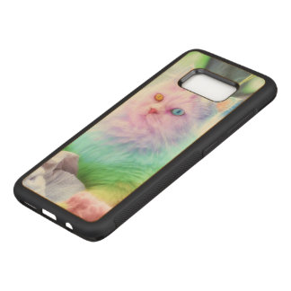 Unicorn Rainbow Cat Carved Samsung Galaxy S8 Case