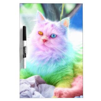Unicorn Rainbow Cat Dry Erase Board