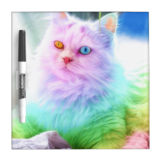 Unicorn Rainbow Cat Dry Erase Whiteboard