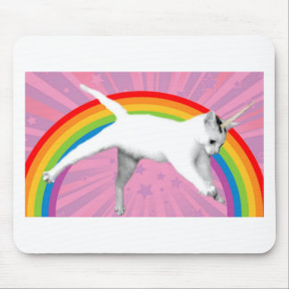 Unicorn Rainbow Cat Mouse Pad