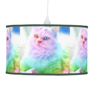 Unicorn Rainbow Cat Pendant Lamp