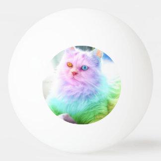 Unicorn Rainbow Cat Ping Pong Ball