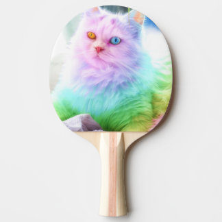 Unicorn Rainbow Cat Ping Pong Paddle