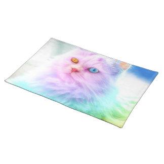 Unicorn Rainbow Cat Placemat