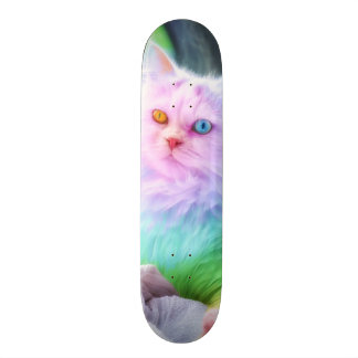 Unicorn Rainbow Cat Skate Board Decks