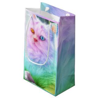 Unicorn Rainbow Cat Small Gift Bag