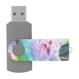 Unicorn Rainbow Cat USB Flash Drive