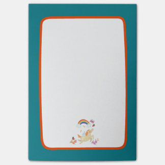 Unicorn Rainbow Clouds and Flowers Post-it Notes