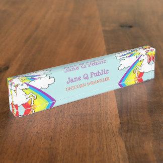 Unicorn Rainbow Desk Nameplate