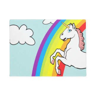 Unicorn Rainbow Doormat