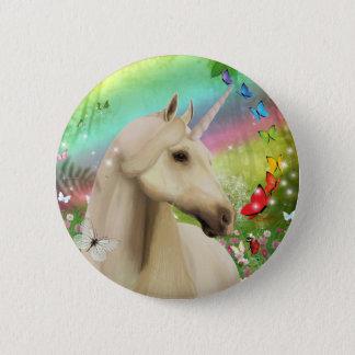 Unicorn Rainbow Garden Pin Button Badge