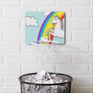 Unicorn Rainbow Mini Basketball Hoop