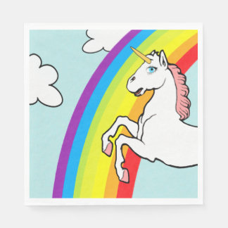 Unicorn Rainbow Paper Napkins