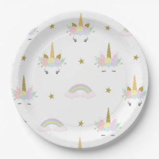 Unicorn Rainbow Paper Plates