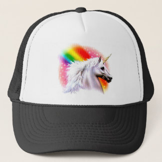 Unicorn rainbow. trucker hat