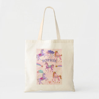 Unicorn rainbows and glitter shopper bag