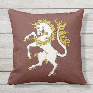 Unicorn Rampant Outdoor Pillow