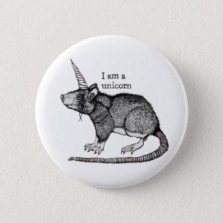 Unicorn Rat 2 Inch Round Button
