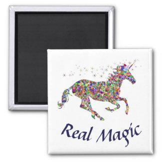 Unicorn Real Magic Square Magnet Custom