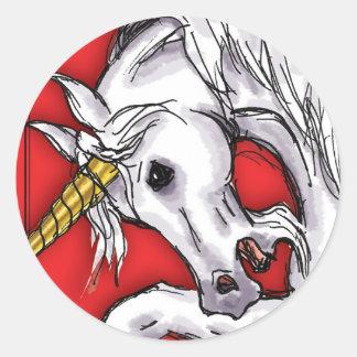 Unicorn Red sticker