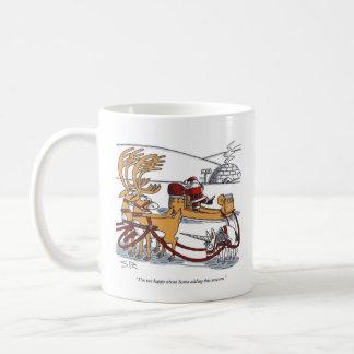 Unicorn Reindeer right hand Christmas cartoon mug