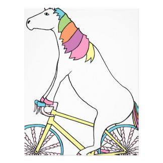 Unicorn Riding Bike W/ Unicorn Horn Spoked Wheels Letterhead