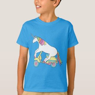 Unicorn Riding Motor Scooter T-Shirt