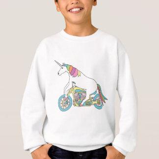 Unicorn Riding Motorcycle Sweatshirt