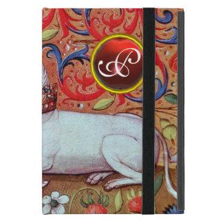 UNICORN RUBY MONOGRAM iPad MINI COVERS