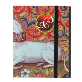UNICORN RUBY MONOGRAM iPad COVERS