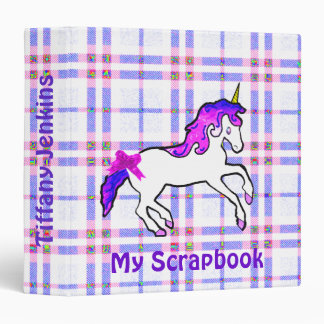 Unicorn scrapbook binder