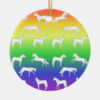 Unicorn selection ceramic ornament