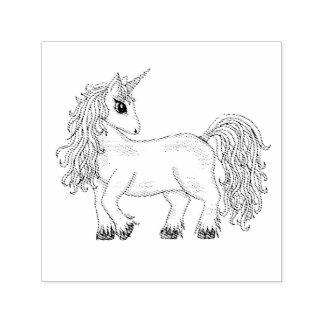 unicorn self-inking stamp